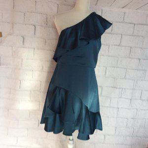 Halston 8 Women peack One Shoulder Dress, YT25